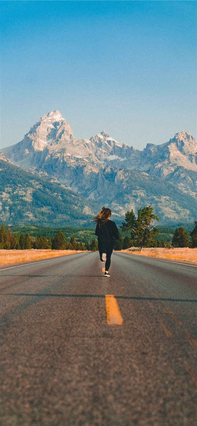 Running to the mountains  iPhone 11 wallpaper