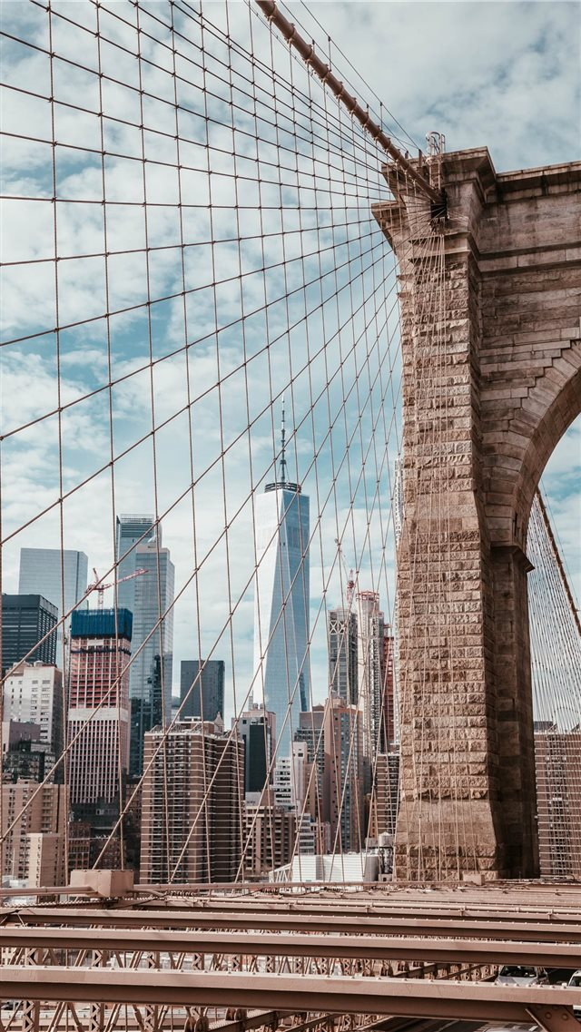 Brooklyn Bridge  New York  USA iPhone 8 wallpaper