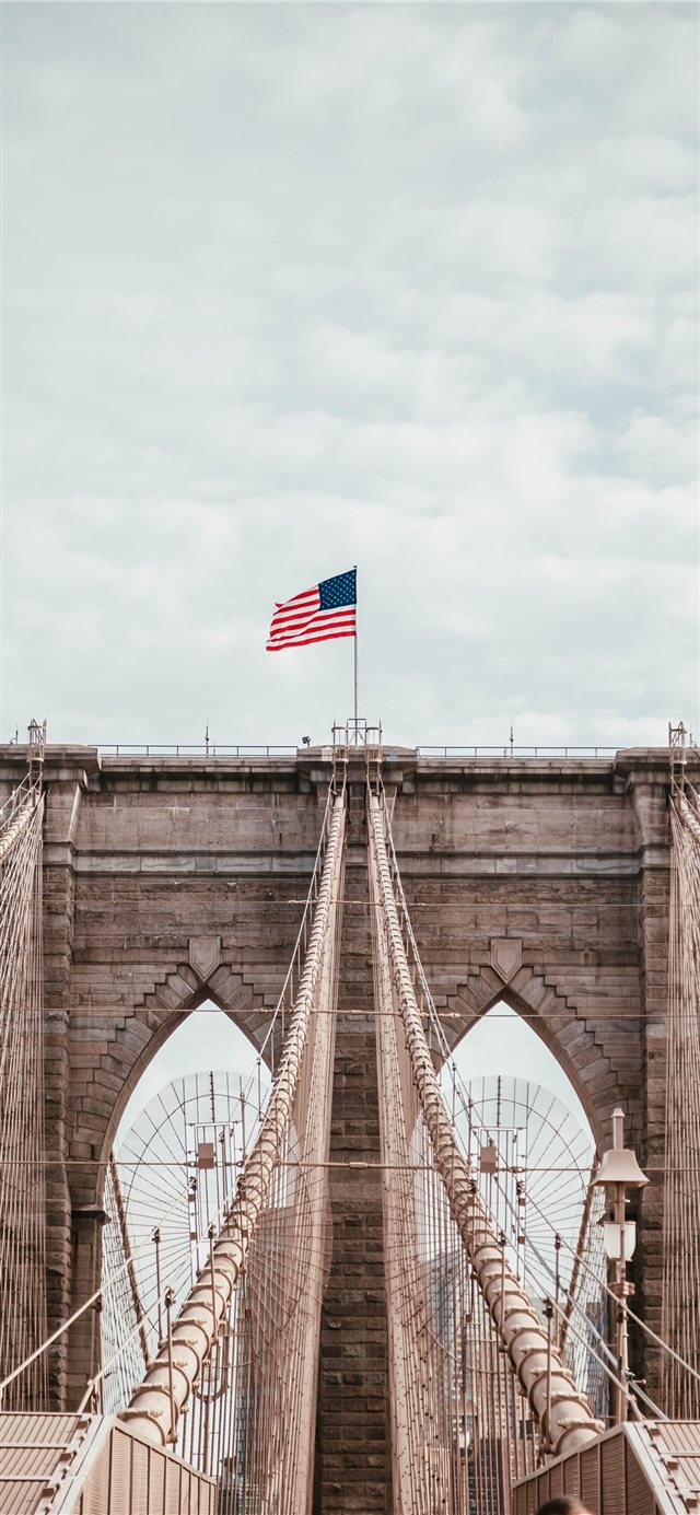 Brooklyn Bridge  new york  USA iPhone X wallpaper