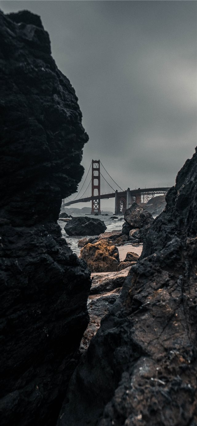 GOLDEN GATE BRIDGE  san francisco iPhone X wallpaper