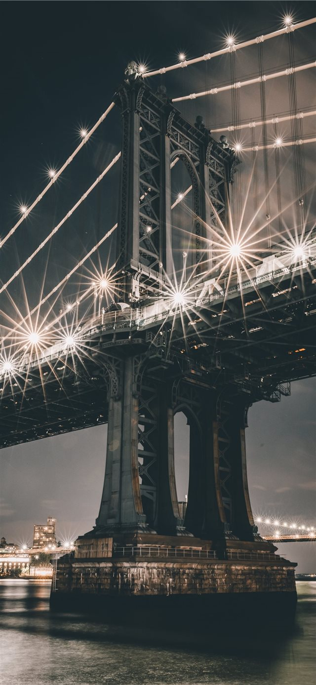 Manhattan Bridge  New York  United States iPhone X wallpaper