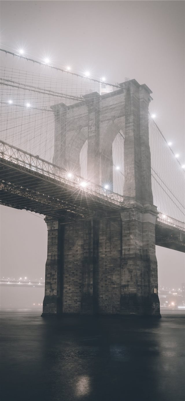Brooklyn Bridge  New York  United States iPhone X wallpaper