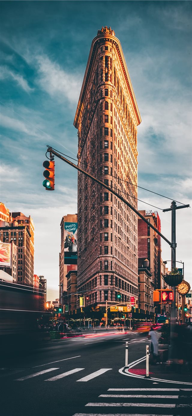 Flatiron Building  New York  United States iPhone X wallpaper