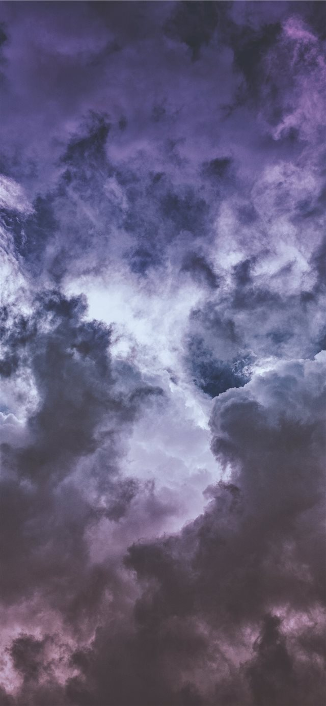 Wisteria clouds     iPhone X wallpaper