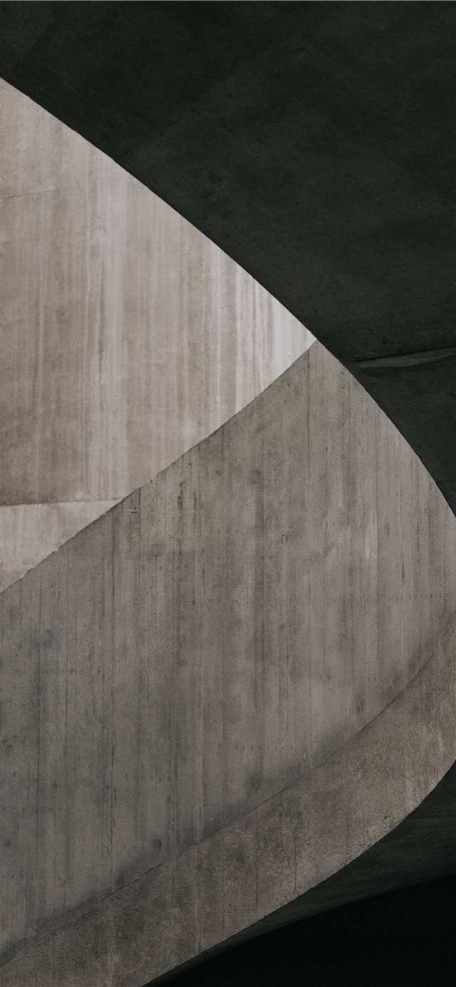 Concrete staircase in the Switch House at Tate Mod... iPhone X wallpaper