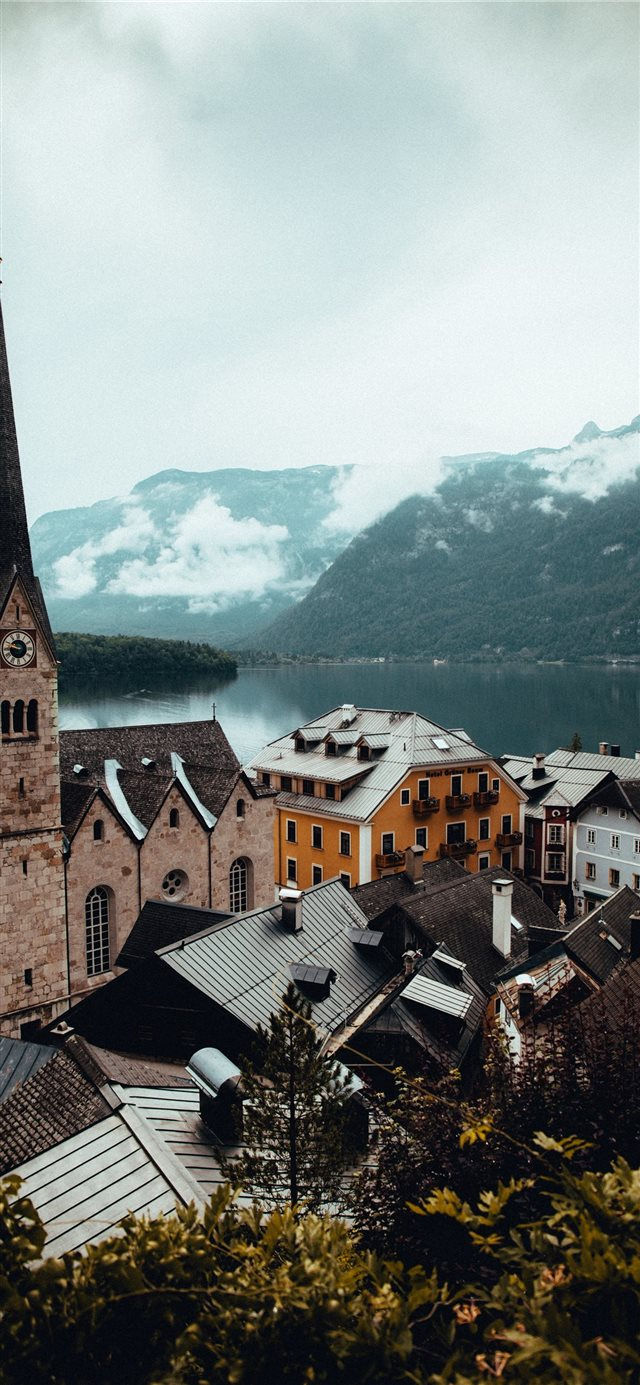 Hallstatt  Austria iPhone X wallpaper