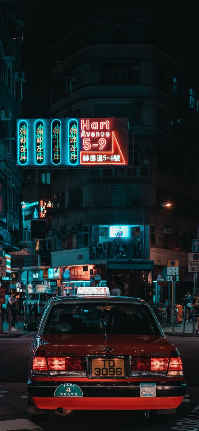 Hart Avenue Neon iPhone X wallpaper