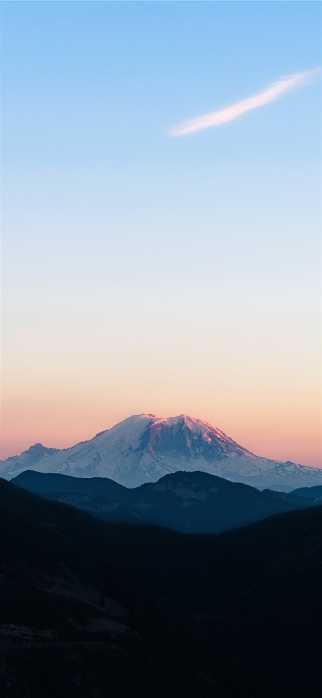 Mountain Rainier National Park  WA iPhone X wallpaper