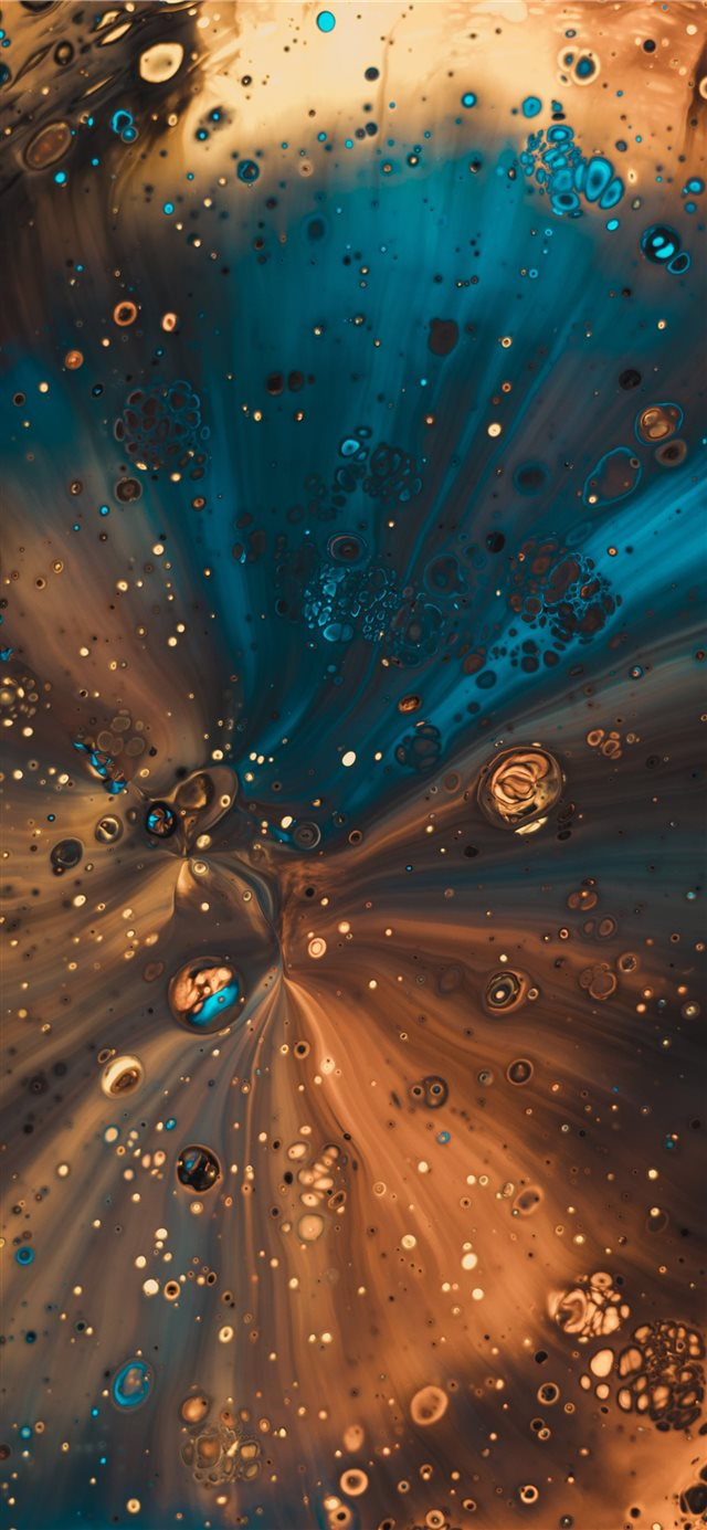 Some acrylic paint poured through a funnel  iPhone X wallpaper