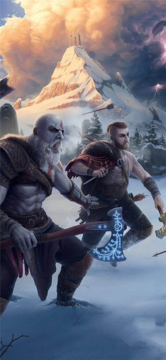 God Of War 4k Artwork Iphone X Wallpapers Free Download