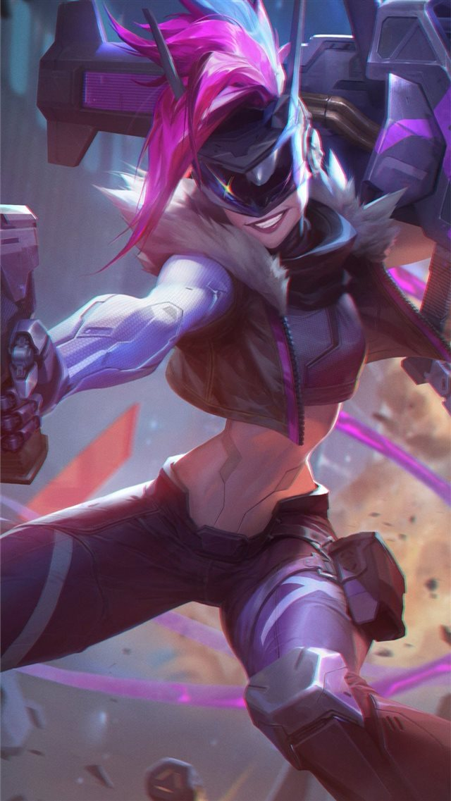 jinx league of legends 4k fanart iPhone SE wallpaper