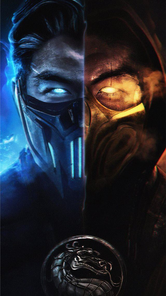 mortal kombat subzero and scorpion iPhone 8 wallpaper