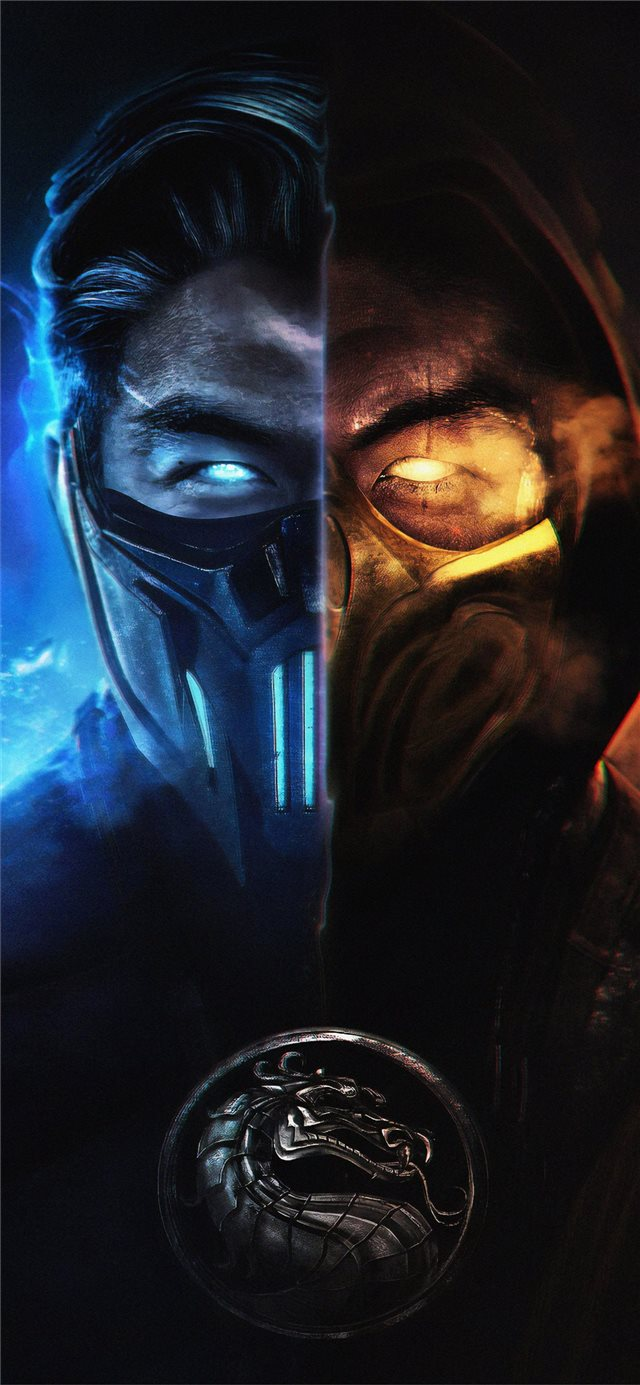 mortal kombat subzero and scorpion iPhone X wallpaper