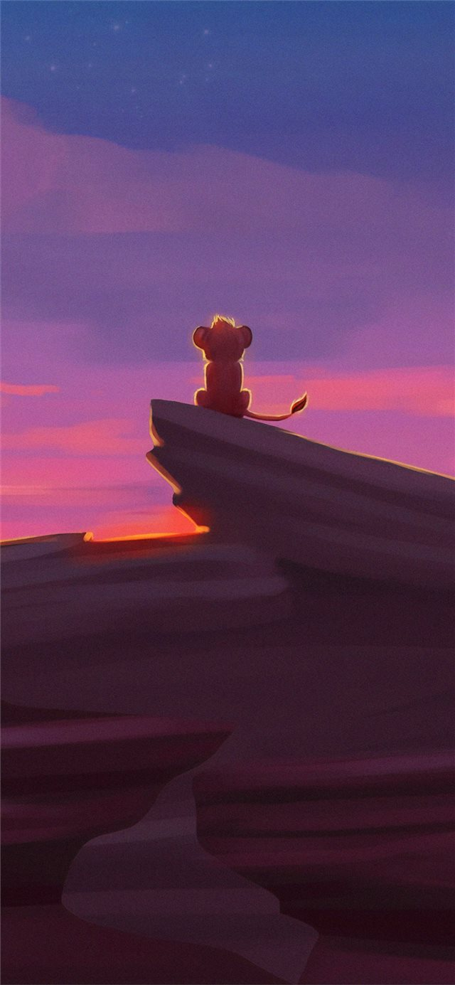 simba the lion king iPhone X wallpaper