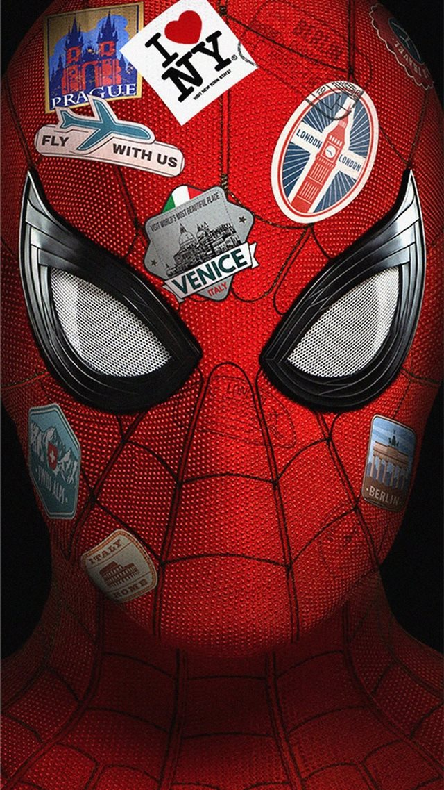 4k spider far from home iPhone SE wallpaper