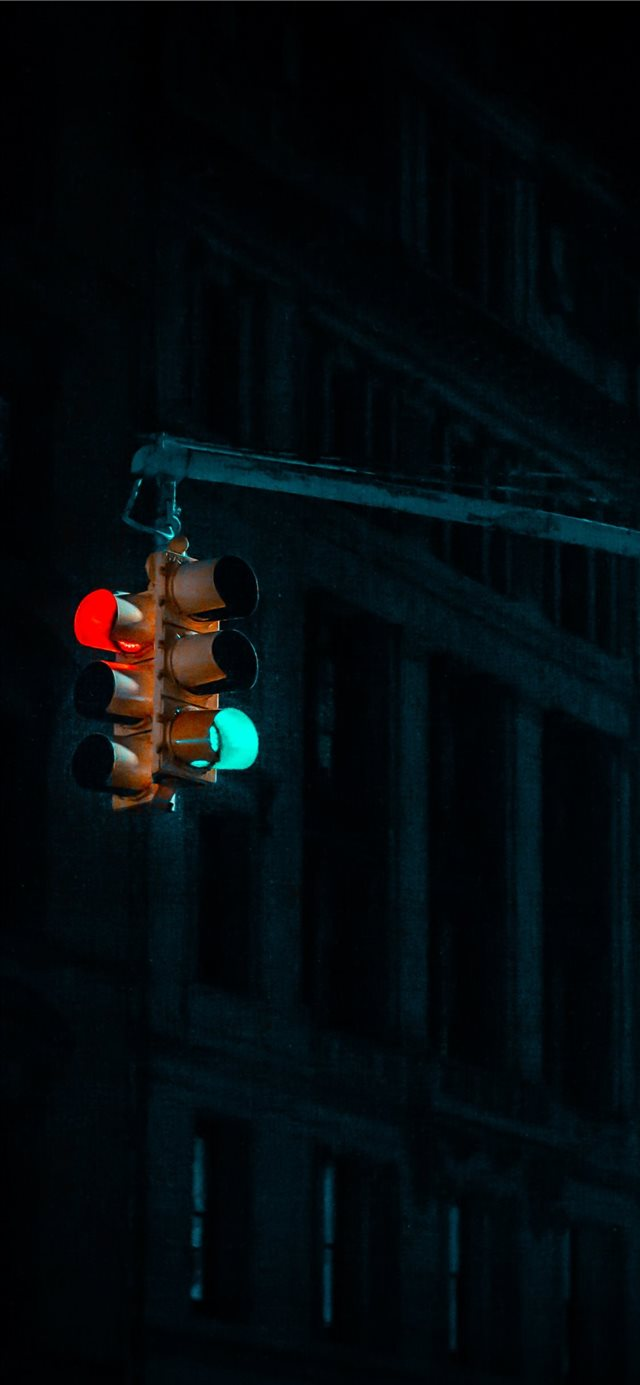NYC traffic lights      davi... iPhone 11 wallpaper
