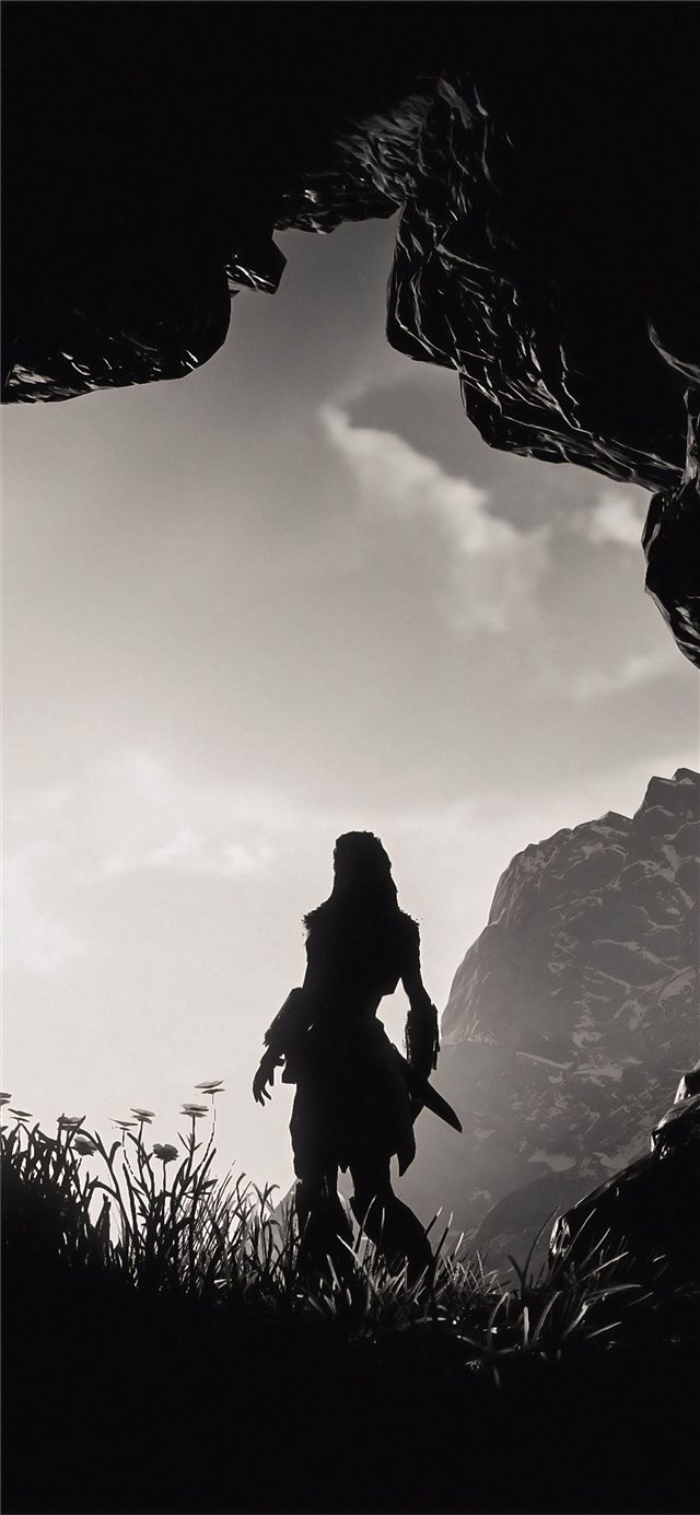 a new day has come aloy horizon zero dawn iPhone X wallpaper