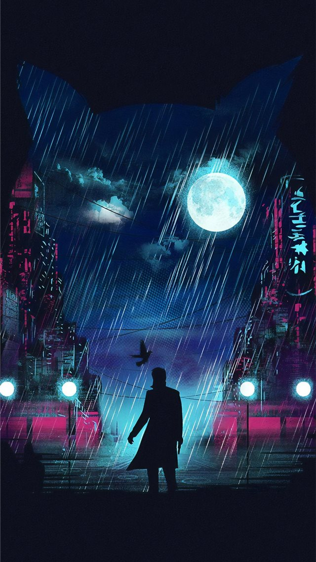 blade runner digital art 4k iPhone 8 wallpaper