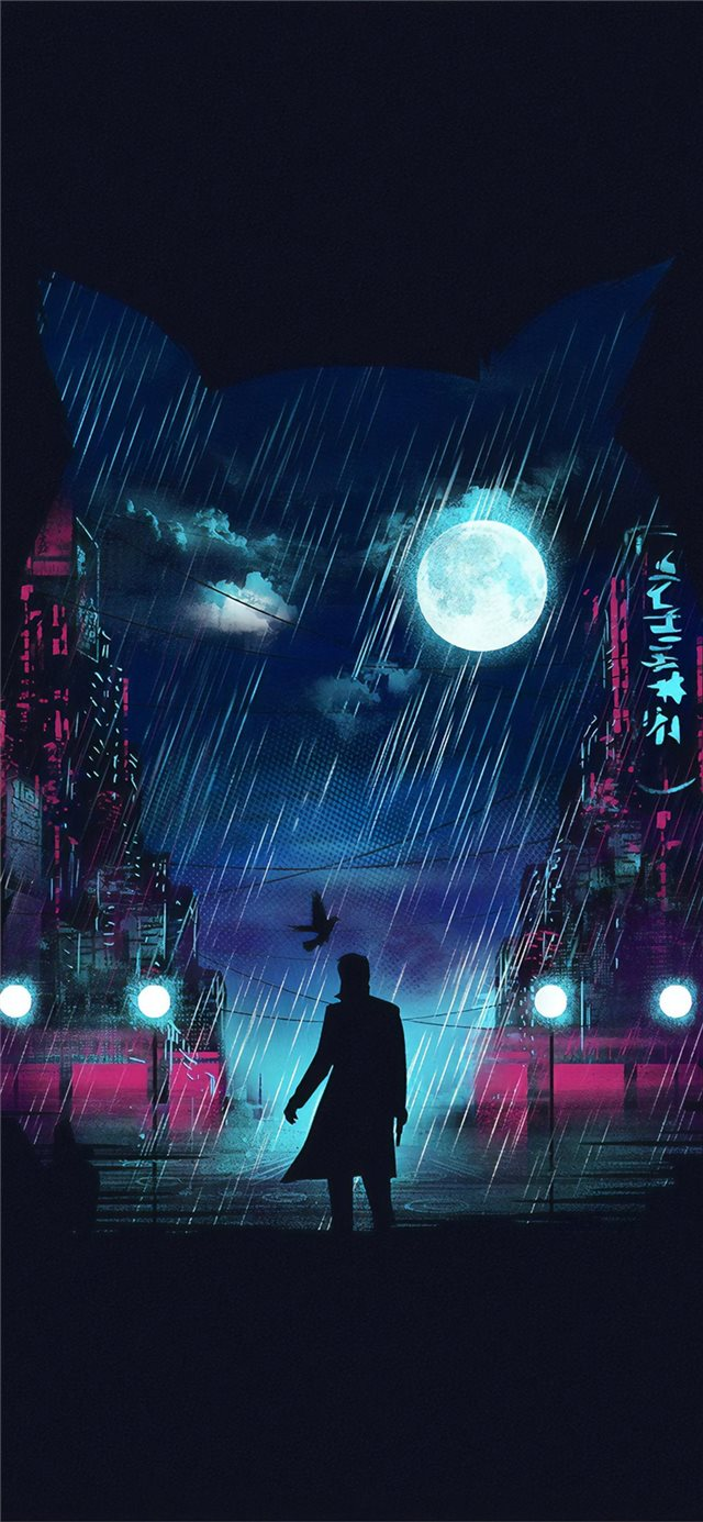 blade runner digital art 4k iPhone X wallpaper
