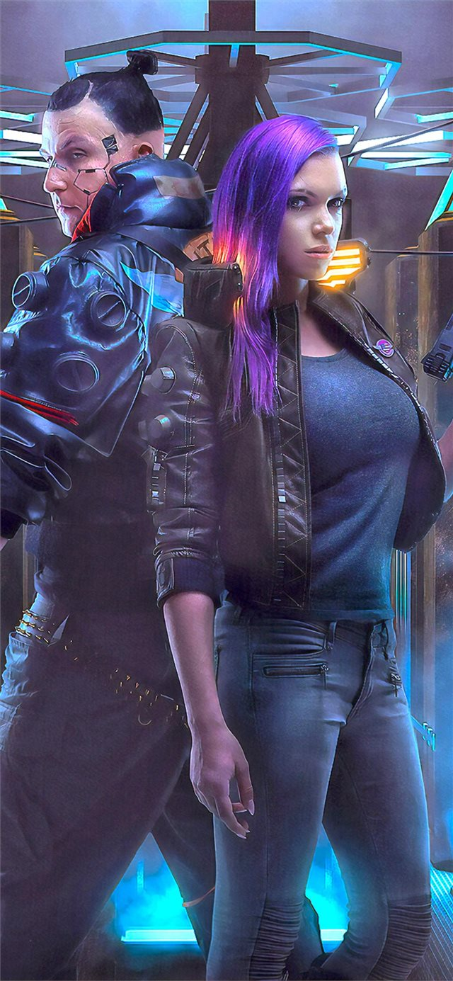 cyberpunk 2077 game cosplay iPhone X wallpaper