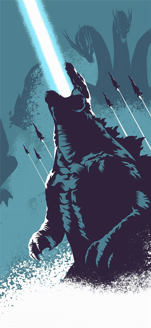 godzilla 4k 2019 iPhone X wallpaper
