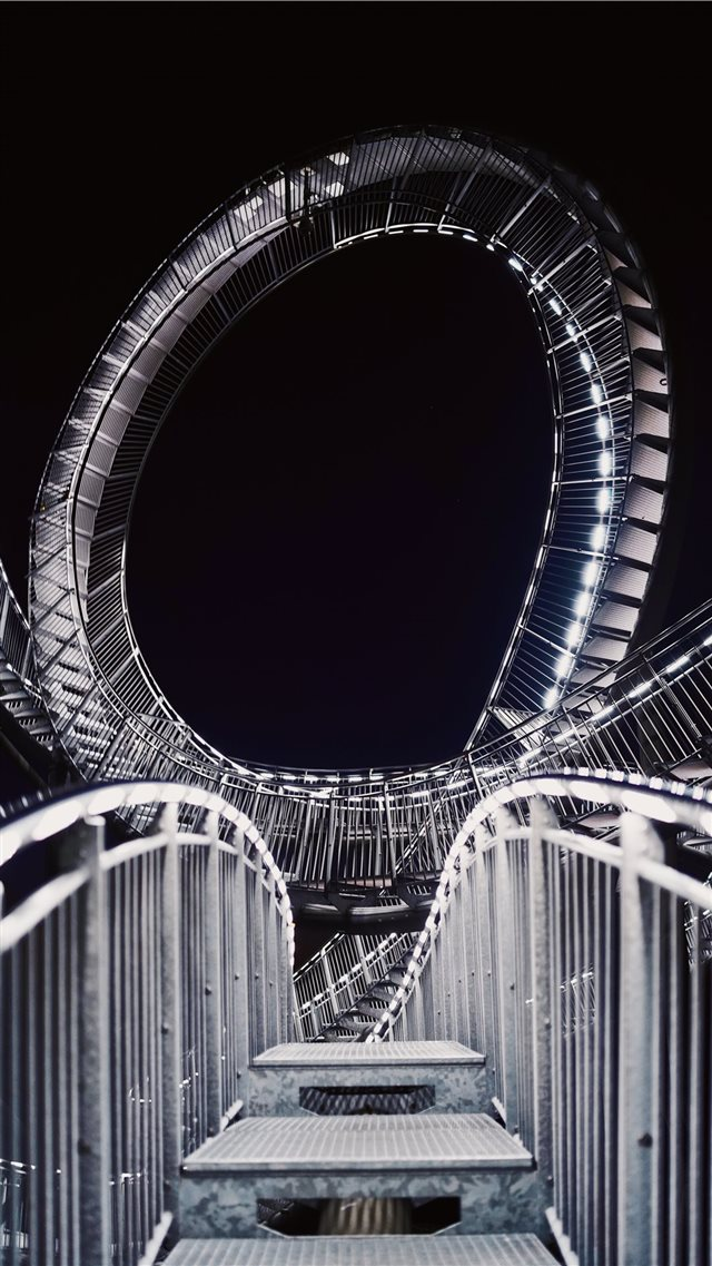 gray roller coaster track iPhone 8 wallpaper