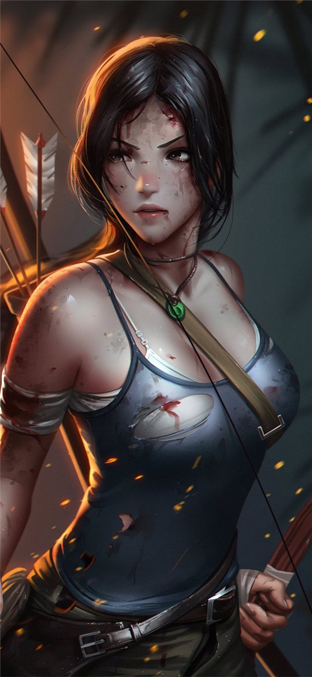 lara croft tombraider iPhone X wallpaper