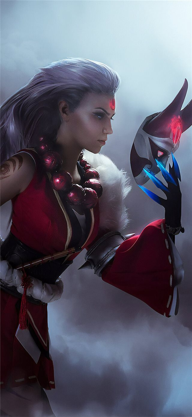 league of legends diana cosplay 4k iPhone X wallpaper