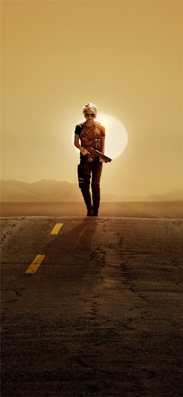 linda hamilton in terminator dark fate 2019 4k iPhone X wallpaper