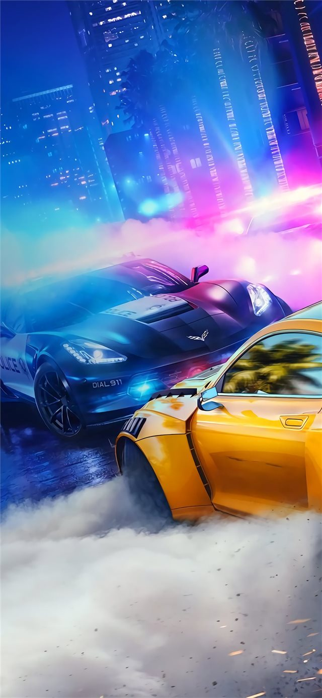 need for speed heat iPhone X wallpaper