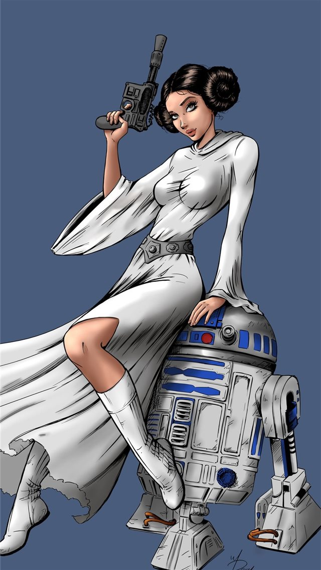 princess leia star wars 5k iPhone 8 wallpaper