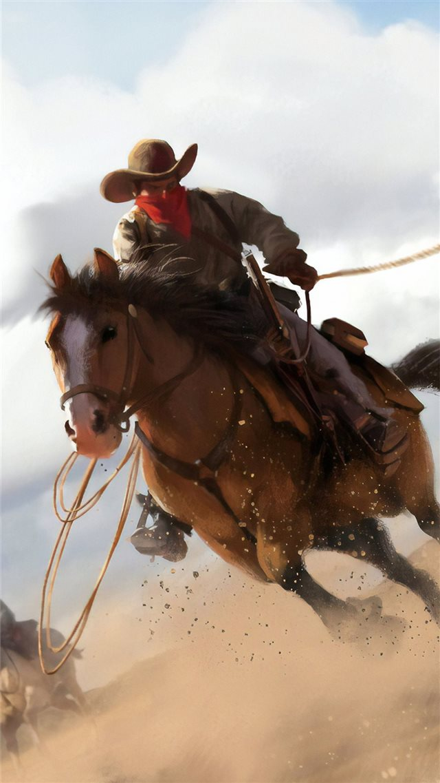 red dead redemption 2 fanart iPhone 8 wallpaper
