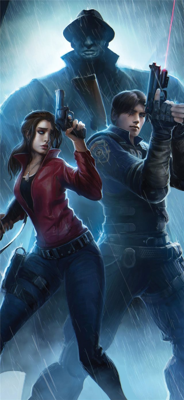 resident evil claire redfield chris redfield 4k ar... iPhone X wallpaper