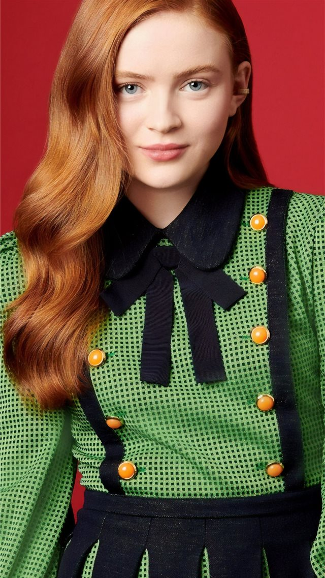 sadie sink ew photoshoot 2019 iPhone SE wallpaper