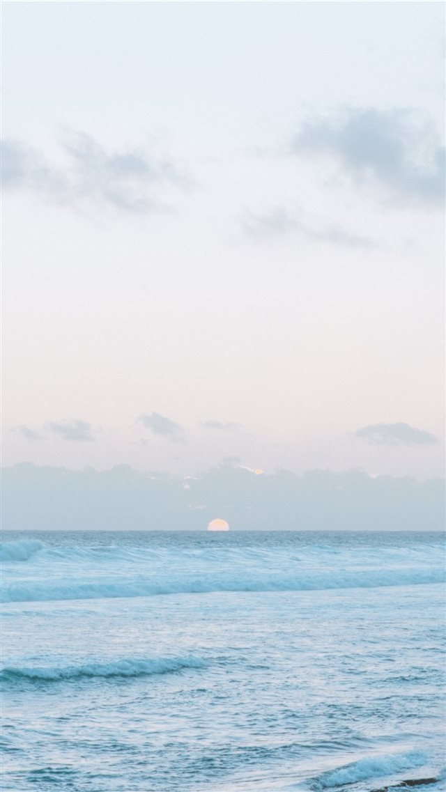 sunset in a beautiful island iPhone SE wallpaper