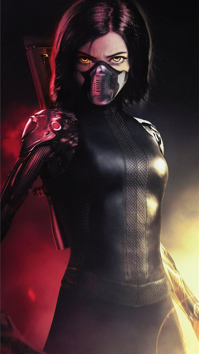 the alita battle angel 4k new iPhone SE wallpaper