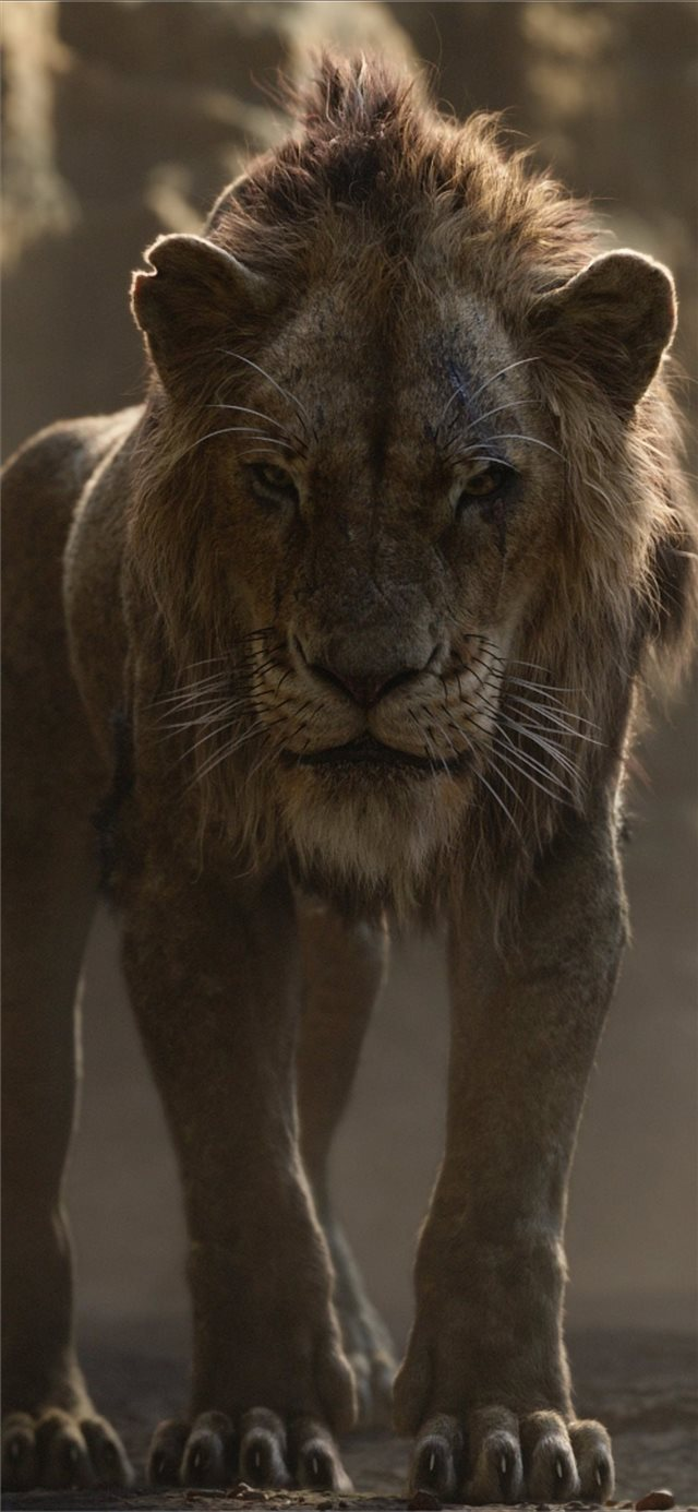 the lion king 2019 scar iPhone X wallpaper