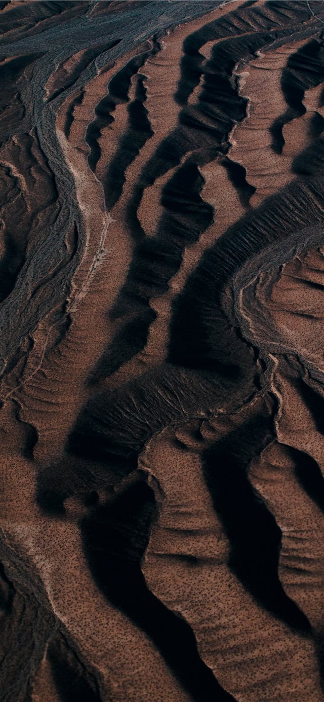 aerial view photography of mountain iPhone X wallpaper