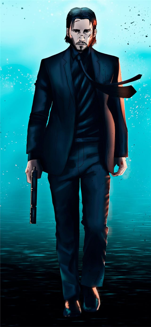 art john wick iPhone X wallpaper