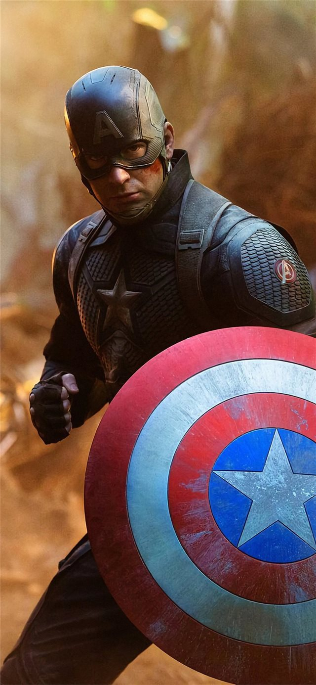 captain america avengers endgame movie iPhone X wallpaper