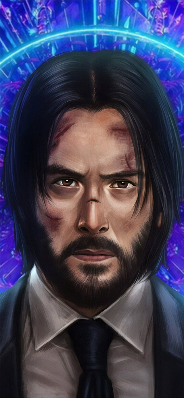 john wick 3 new art iPhone X wallpaper
