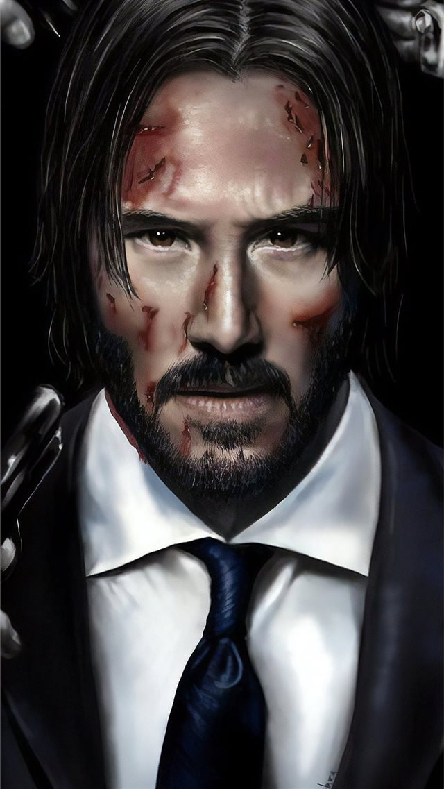 john wick art iPhone SE wallpaper