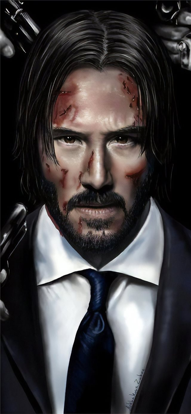 john wick art iPhone X wallpaper