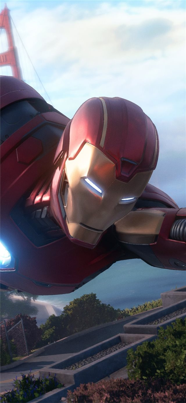 marvel avengers iron man iPhone X wallpaper