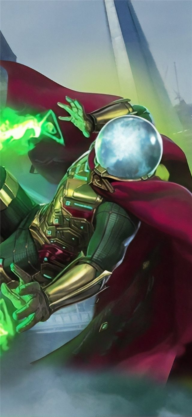 mysterio spiderman far from home iPhone 11 wallpaper