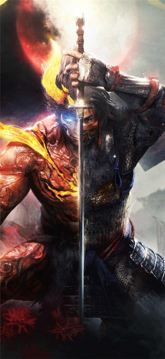 nioh 2 key art iPhone X wallpaper