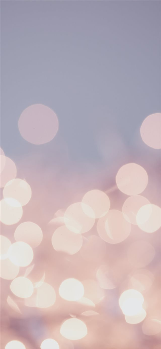 Pretty pastel bokeh fairy lights background  iPhone X wallpaper