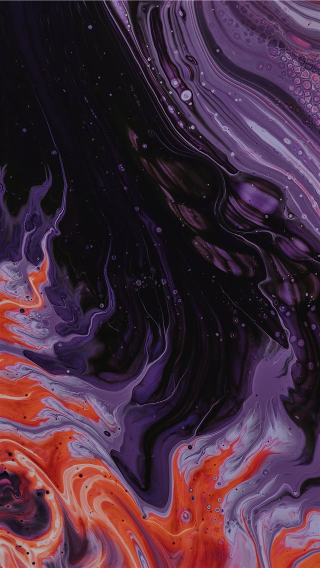 purple black and orange abstract paintin iPhone 8 wallpaper