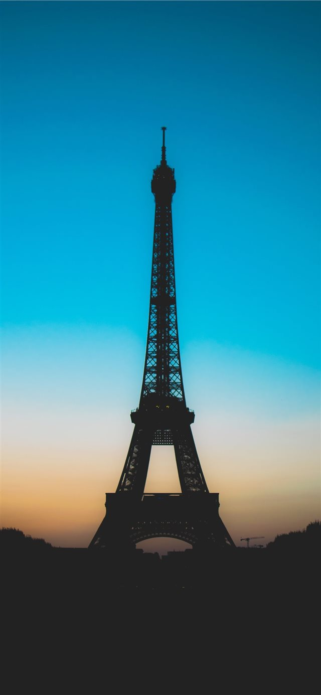 silhouette of Eiffel tower iPhone X wallpaper