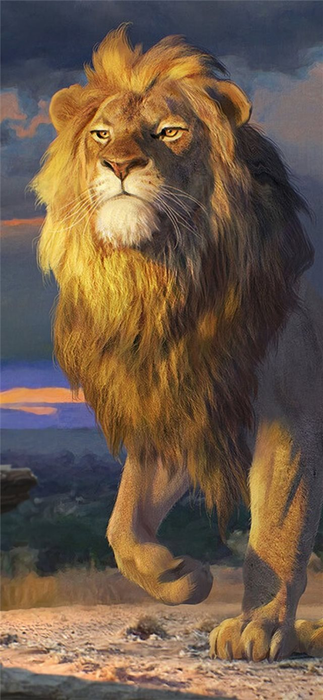simba artwork iPhone 11 wallpaper